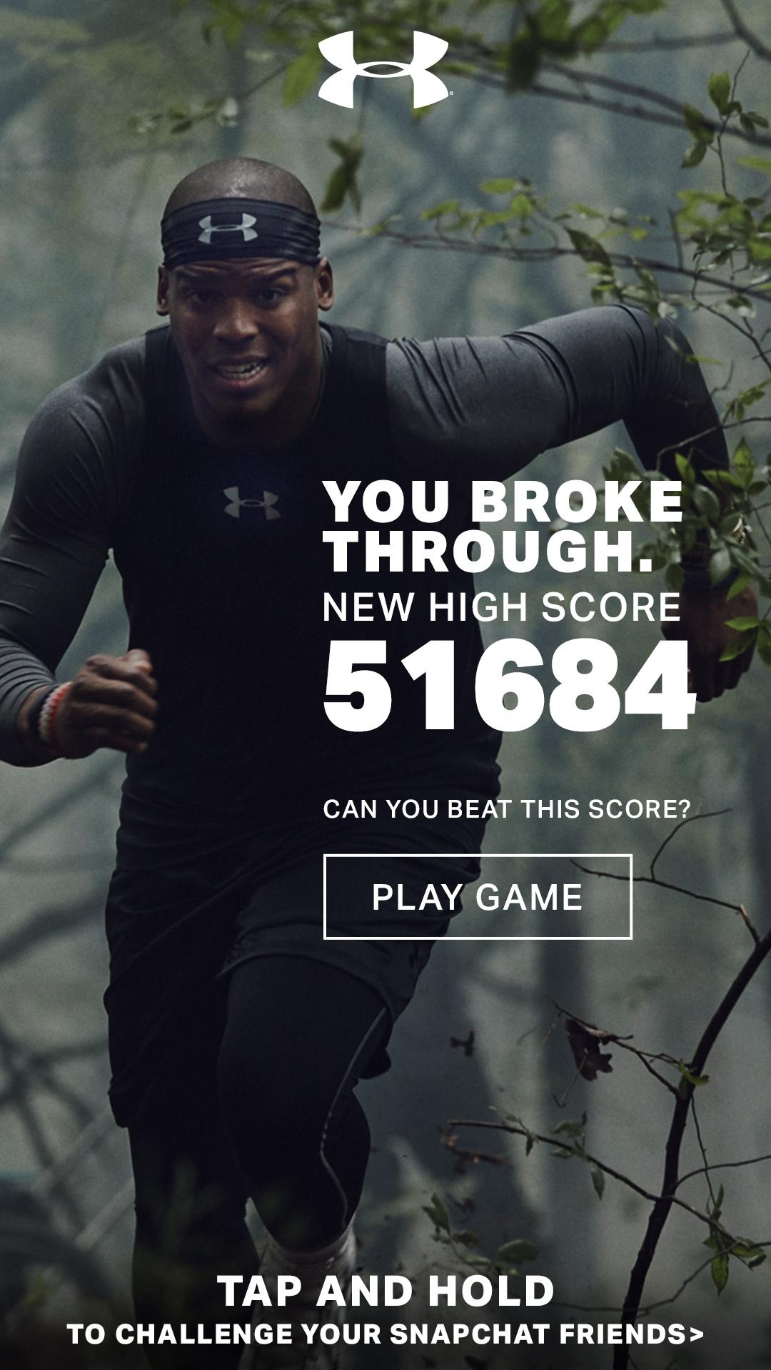 Thumbnail for It Comes From Below Snapchat Game Featuring Cam Newton