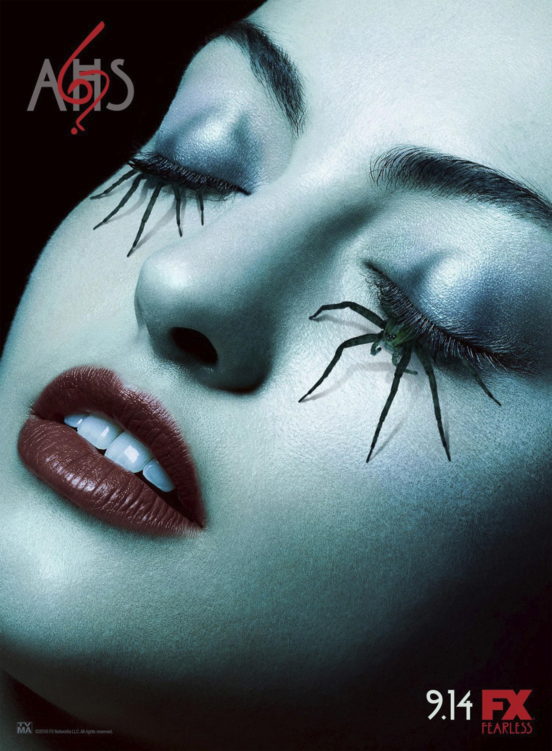 Thumbnail for American Horror Story - Roanoke teaser bus shelter (spider lashes)
