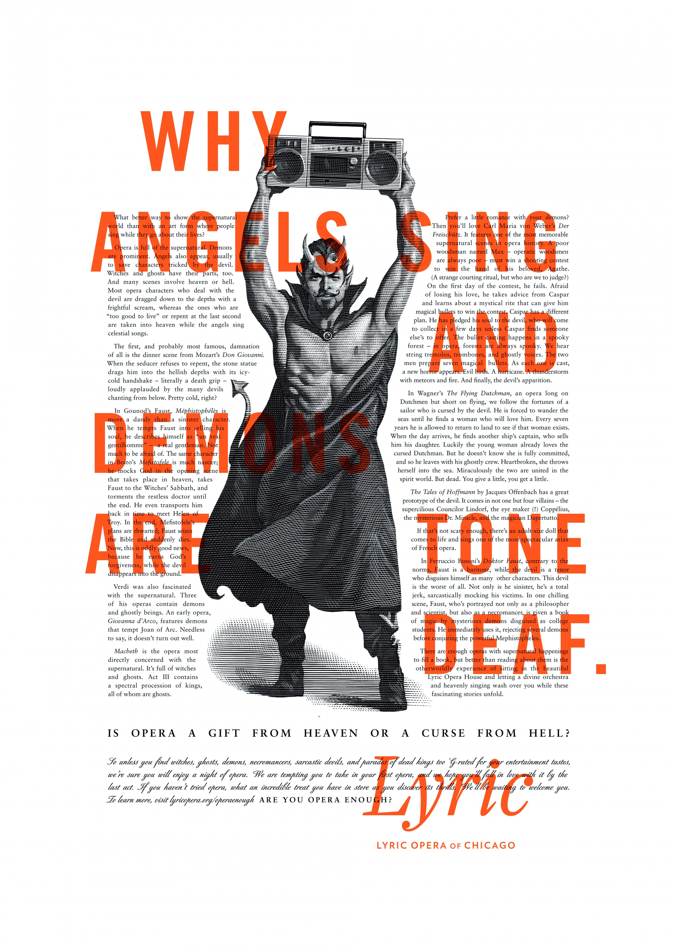 Thumbnail for Lyric Opera Print Campaign: Angels and Demons