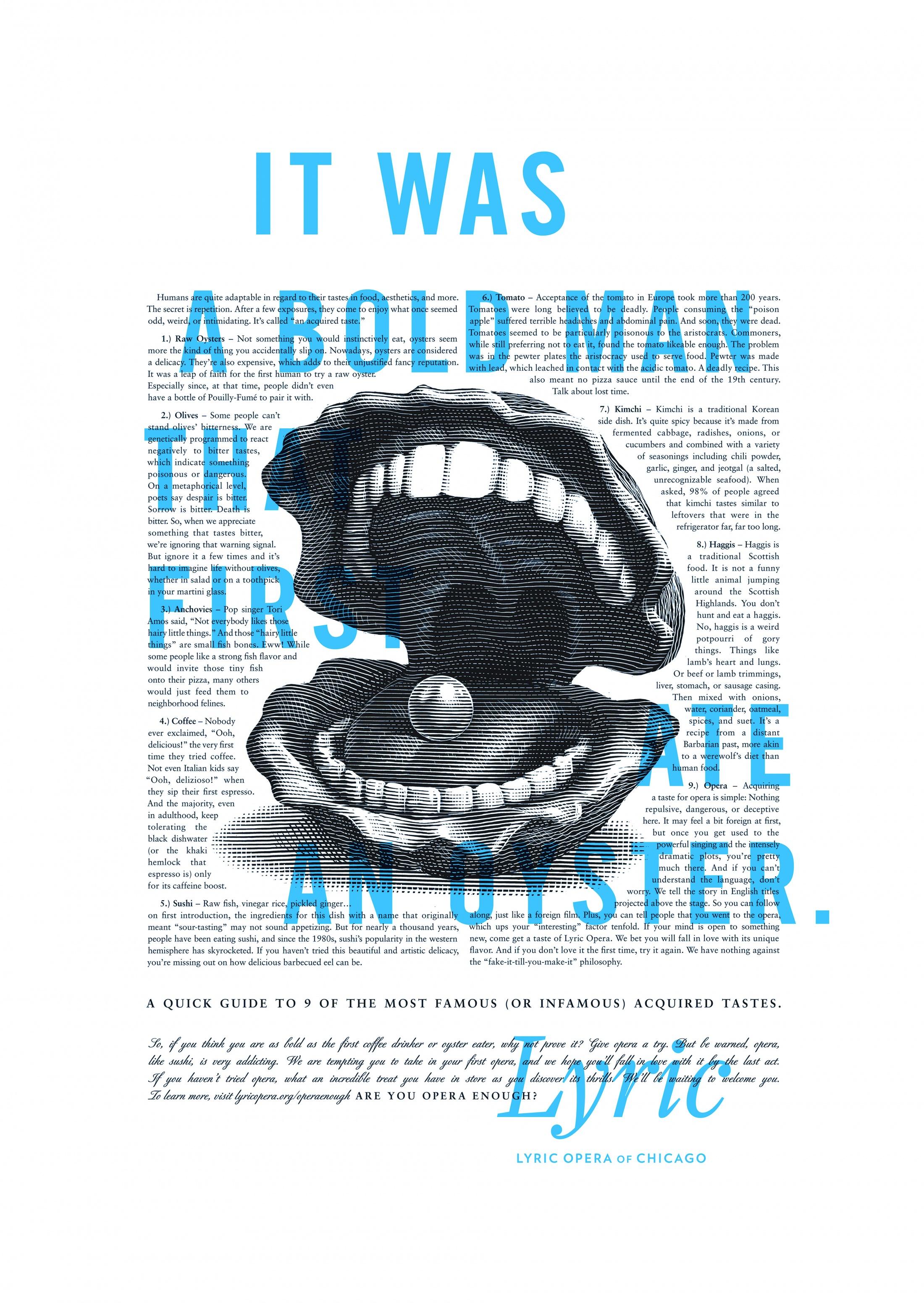 Thumbnail for Lyric Opera Print Campaign: Bold Man