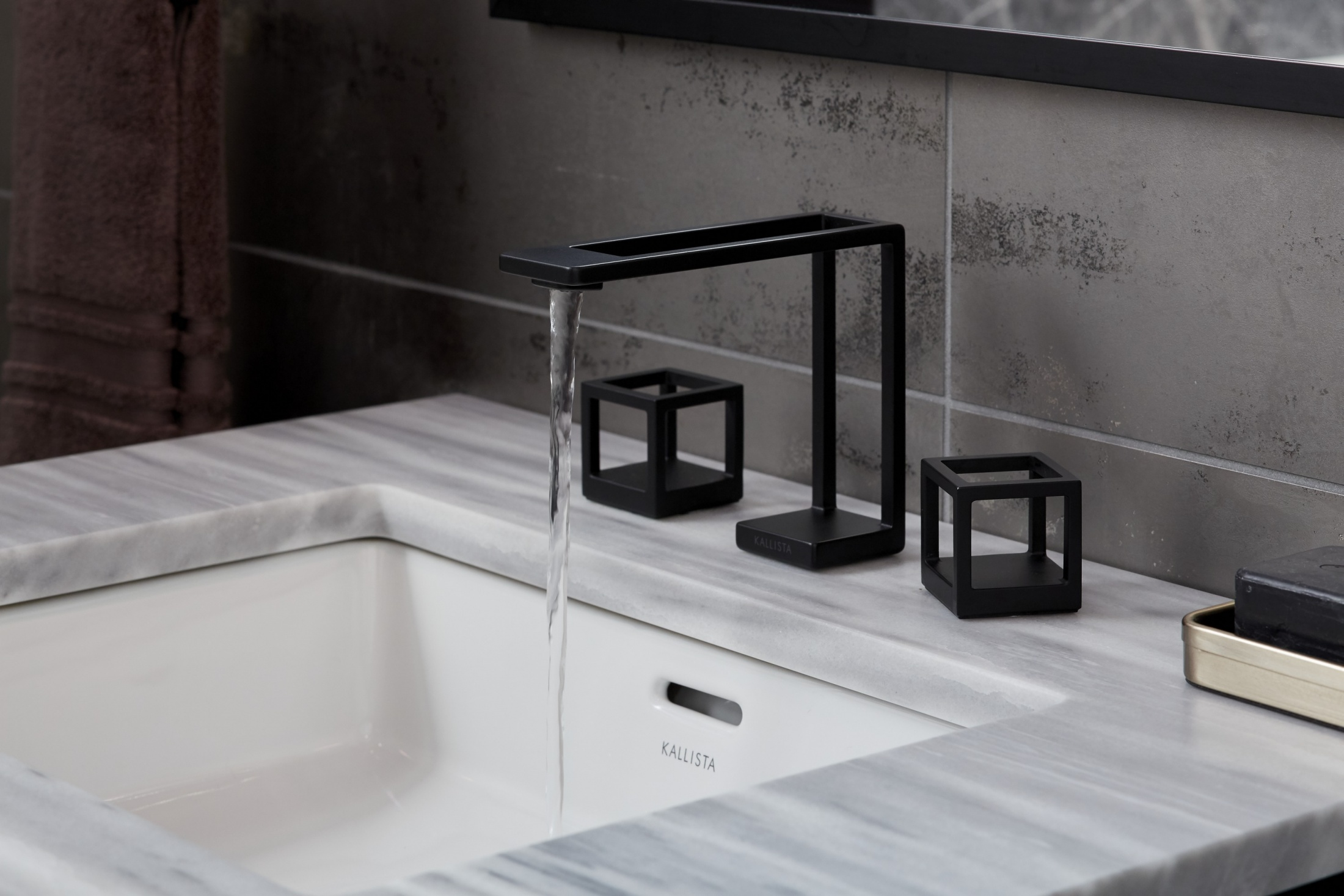 Thumbnail for KALLISTA Grid Sink Faucet and Cube Handles