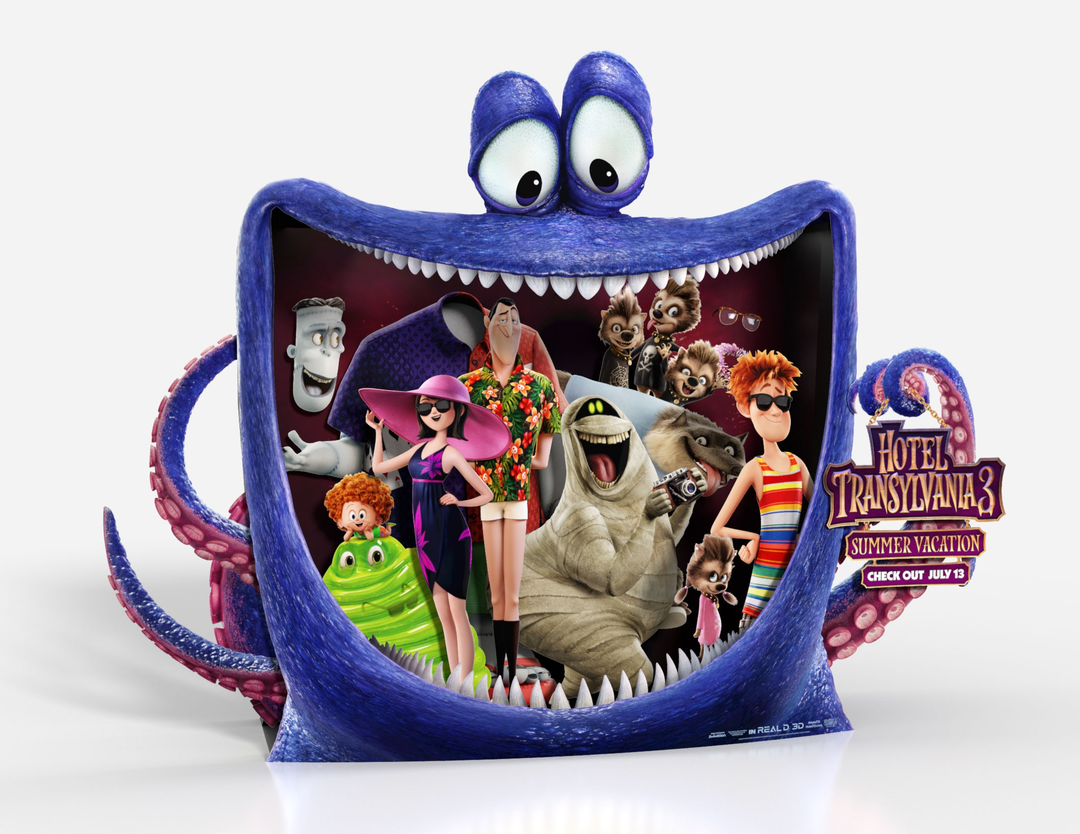 Thumbnail for Hotel Transylvania 3: Summer Vacation In-Theatre Standee