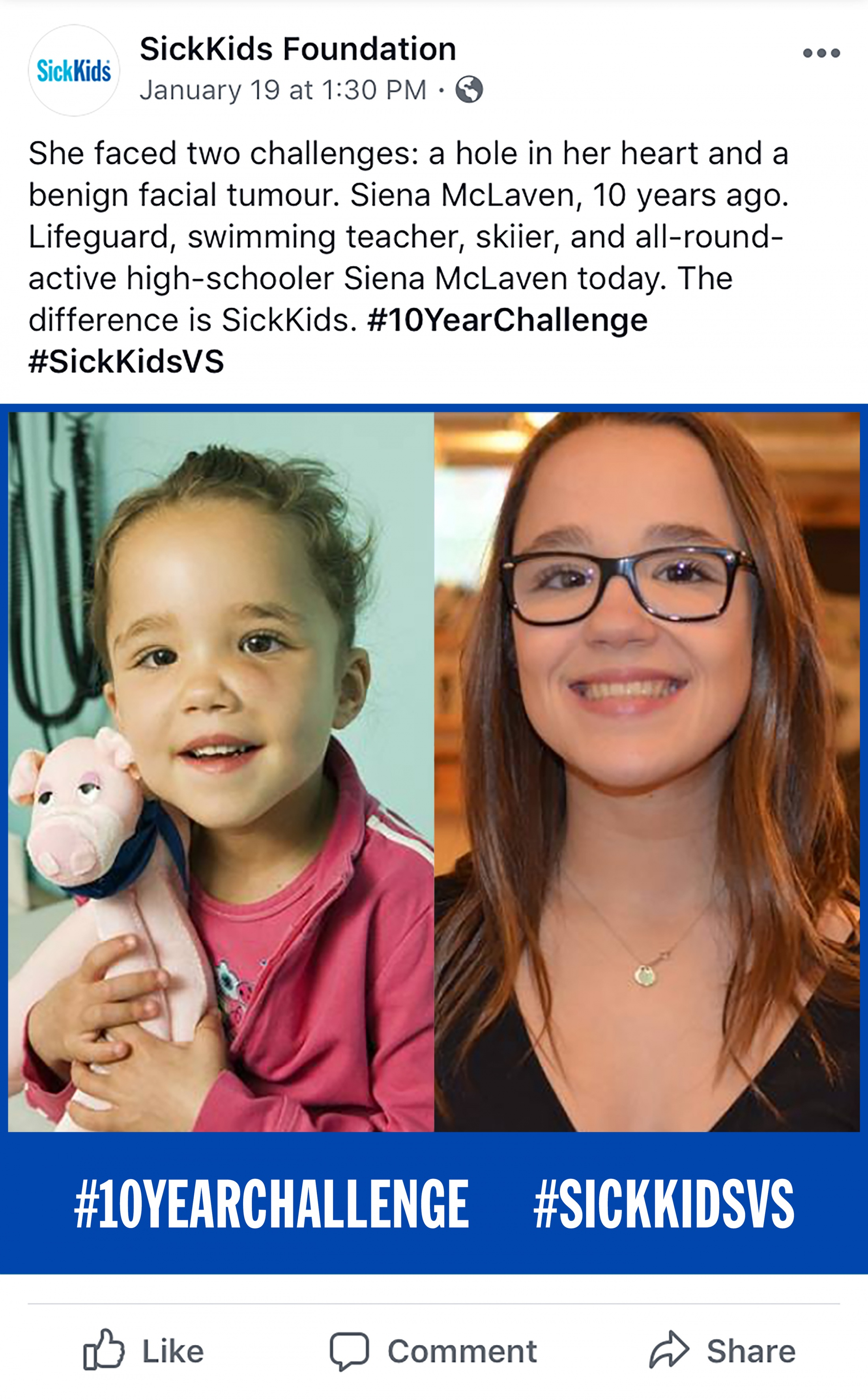 Thumbnail for SickKids VS - #10YearChallenge