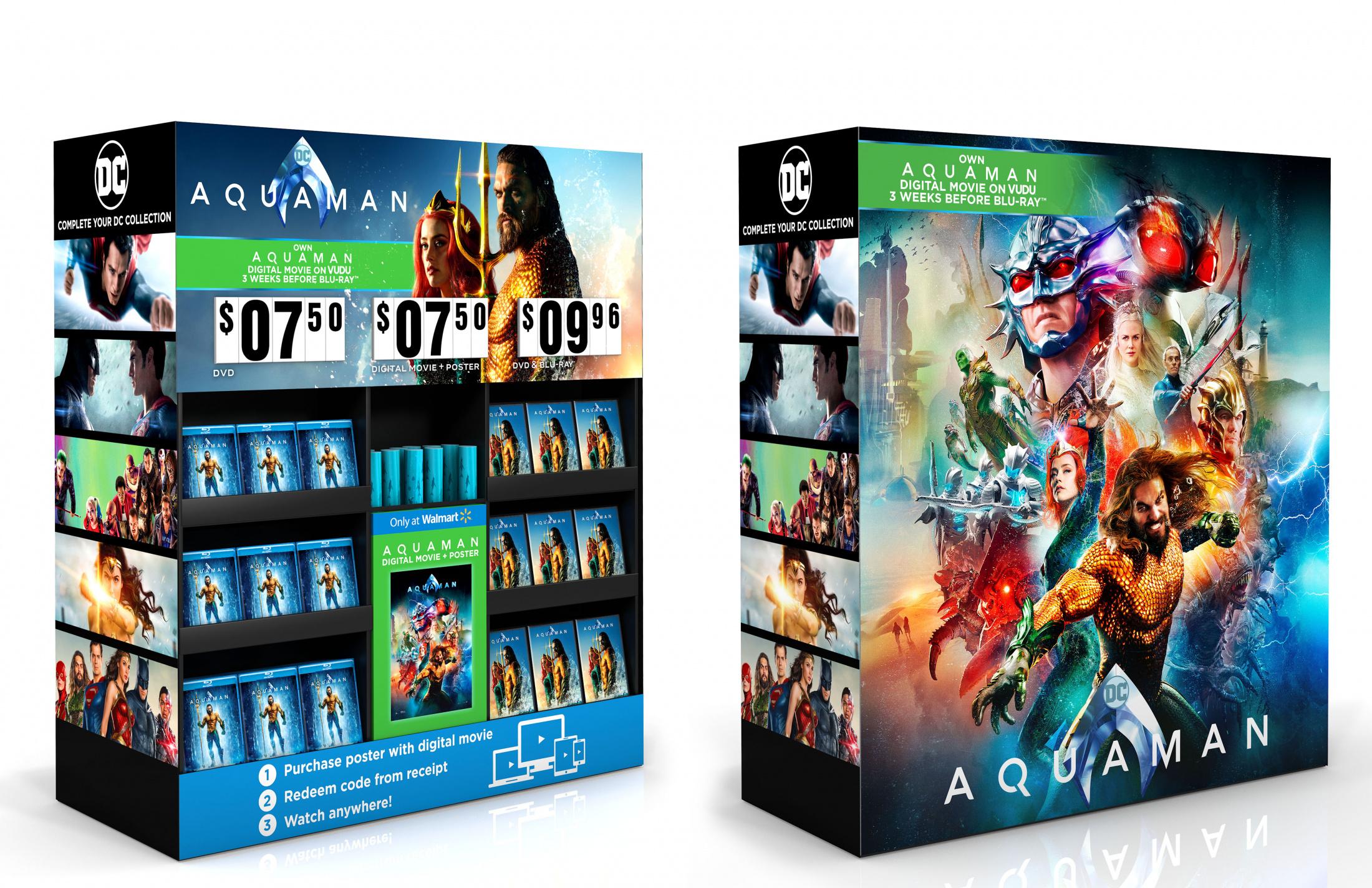 Thumbnail for Aquaman Home Entertainment Walmart Display Poster/Digital Cube