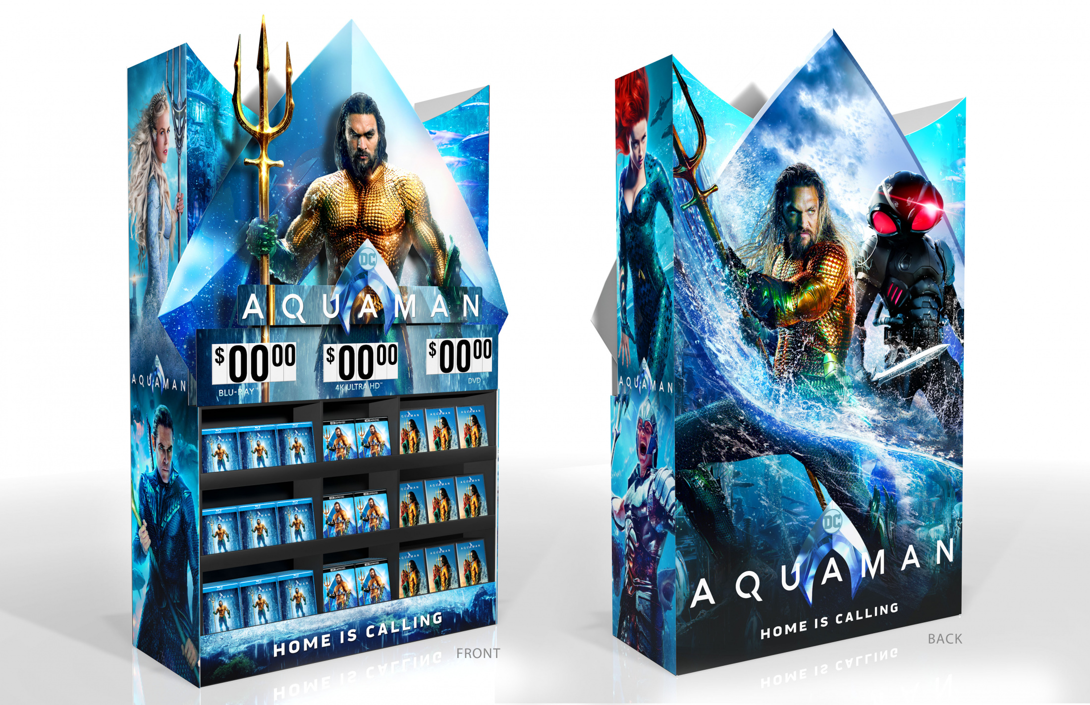 Thumbnail for Aquaman Home Entertainment Walmart Display Mini Wow Cube