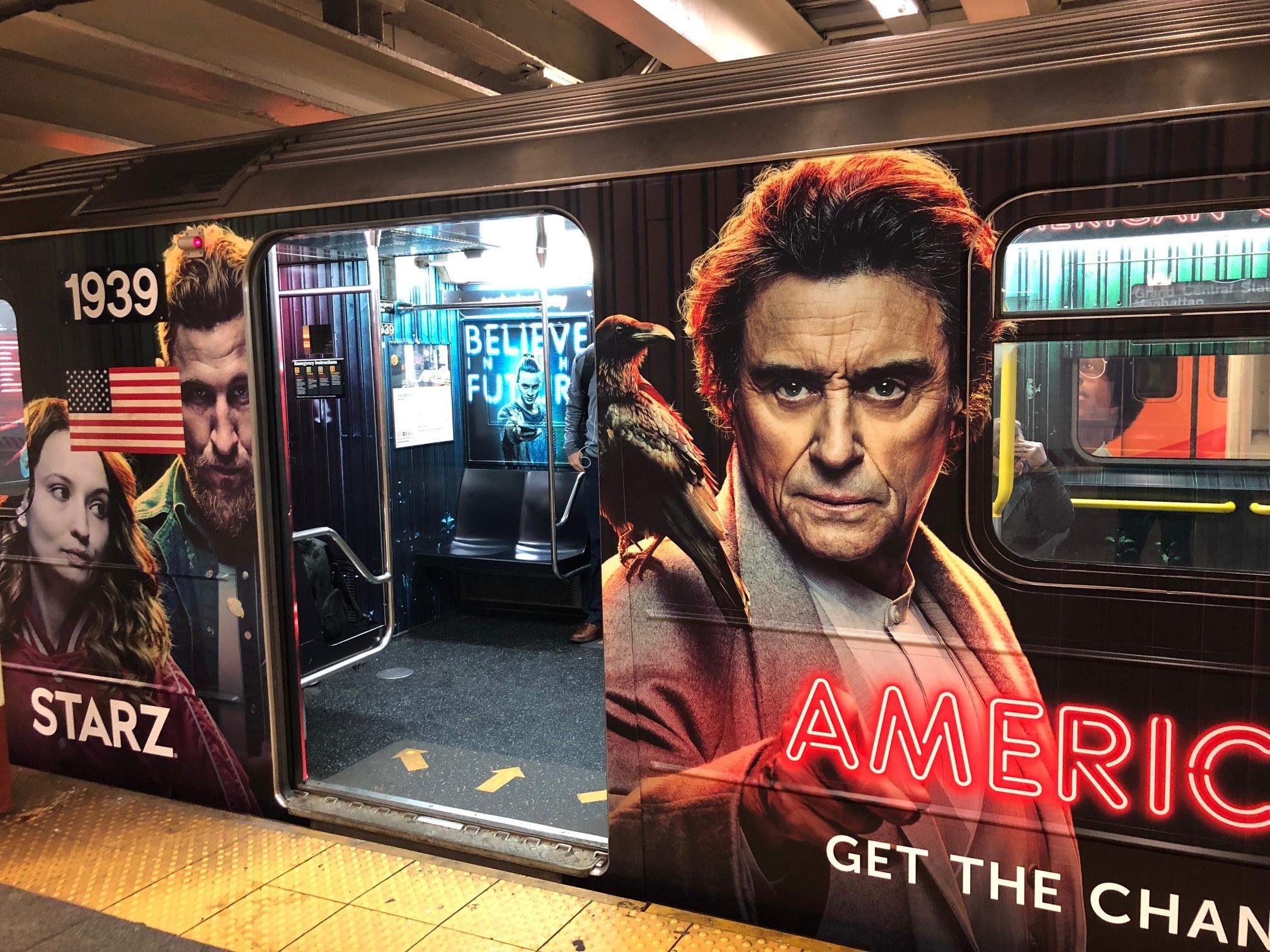 Thumbnail for American Gods S2 OOH (Subway Wrap)