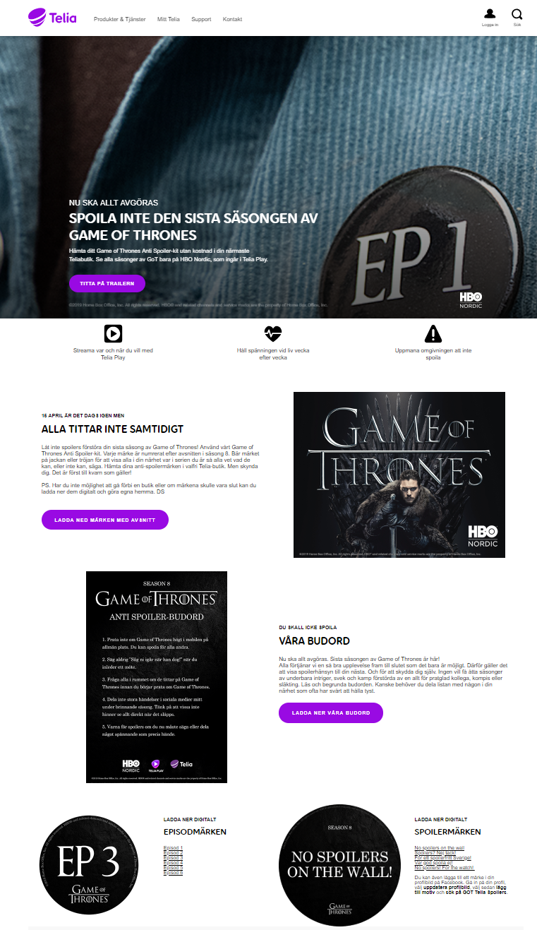 Thumbnail for Game of Thrones Anti spoiler-kit