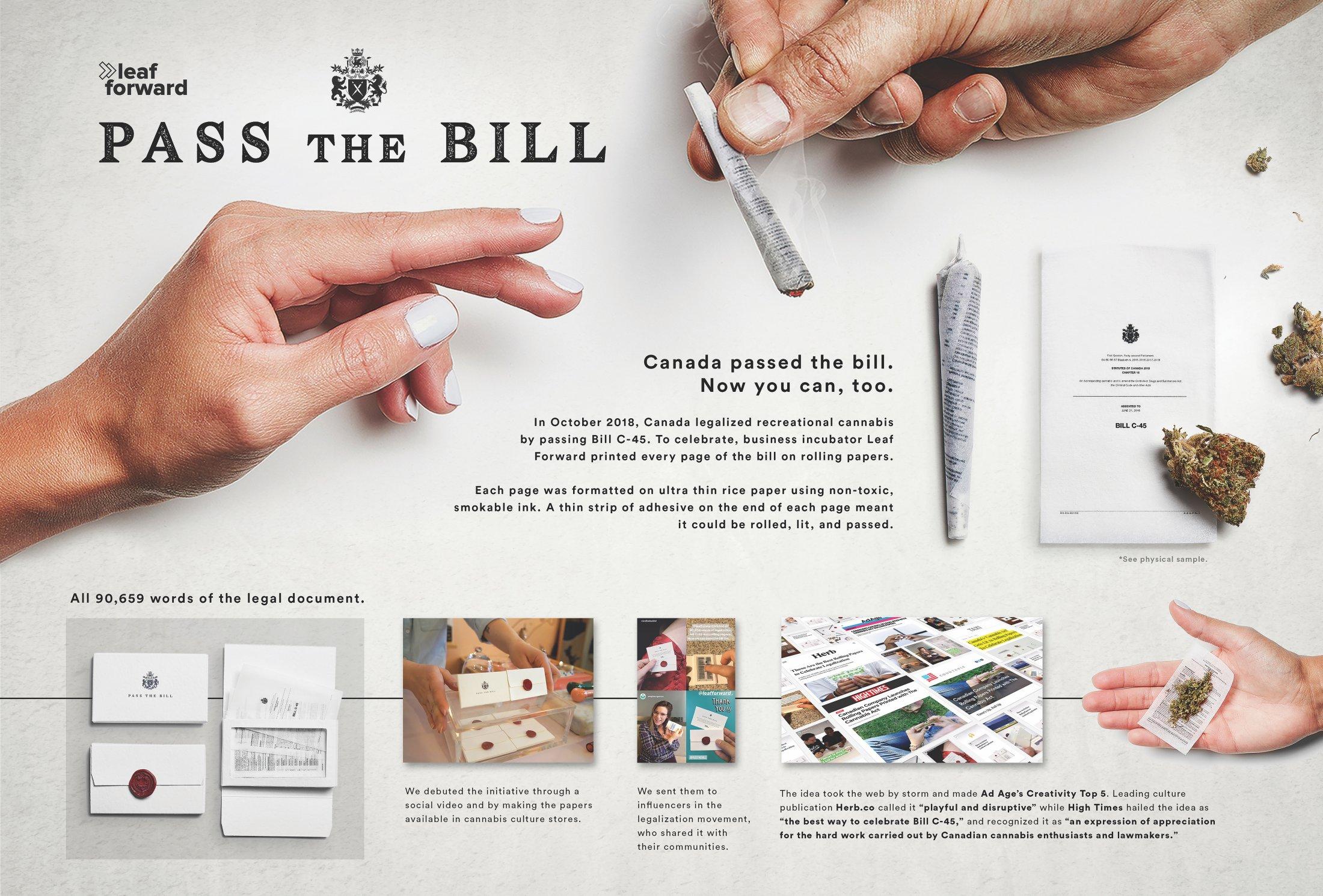 Leaf Forward: Pass The Bill