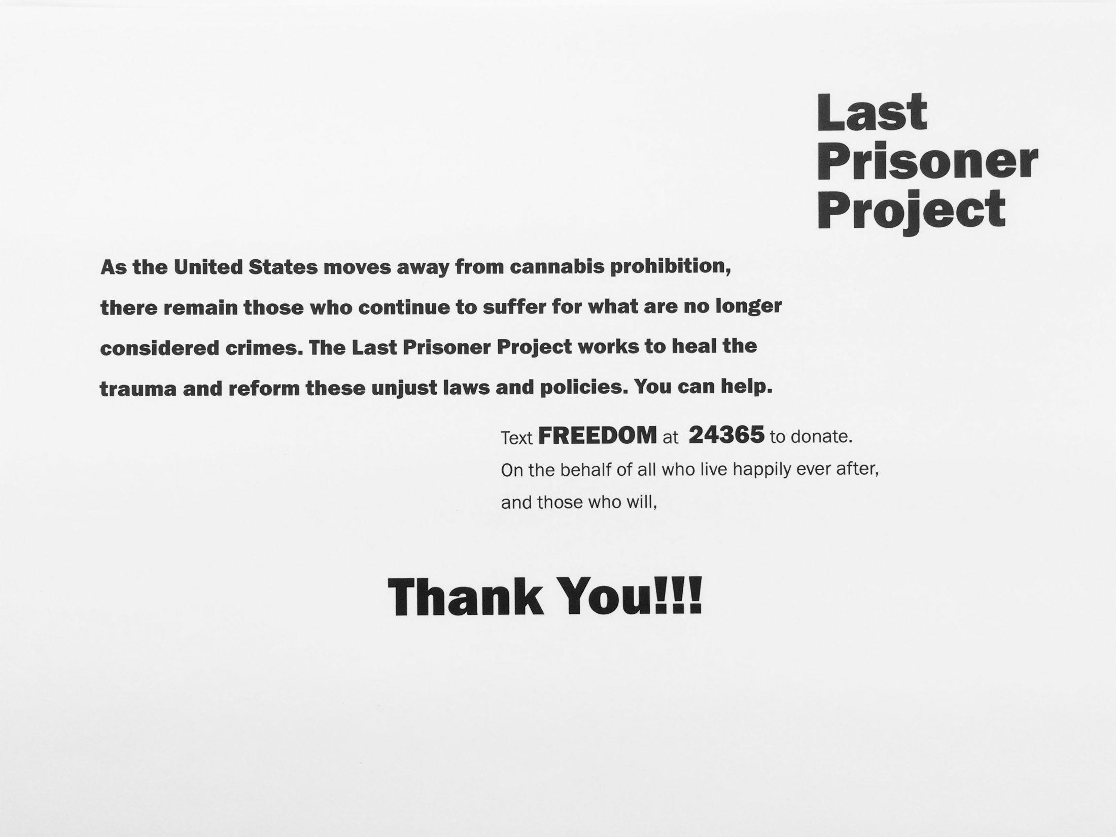 Last Prisoner Project: Last Prisoner Project