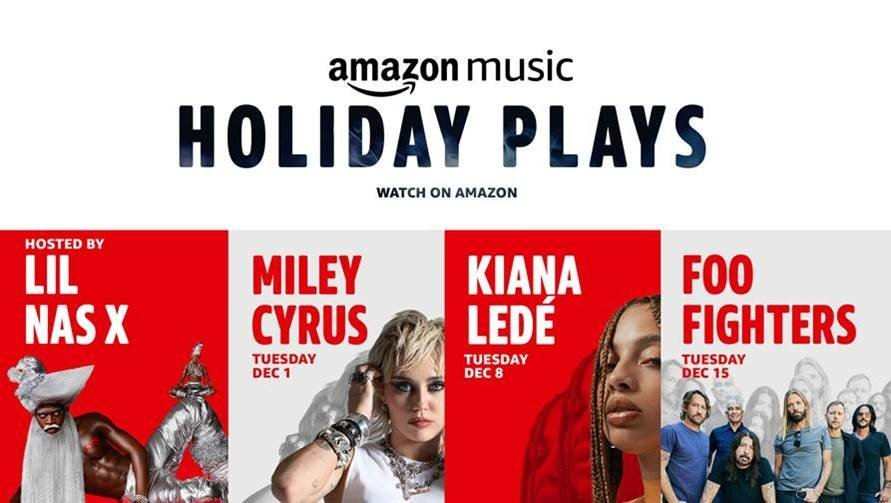 Thumbnail for Holiday Plays: A Concert Series with performances by Miley Cyrus, Foo Fighters, Lil Nas X, and Kiana Ledé
