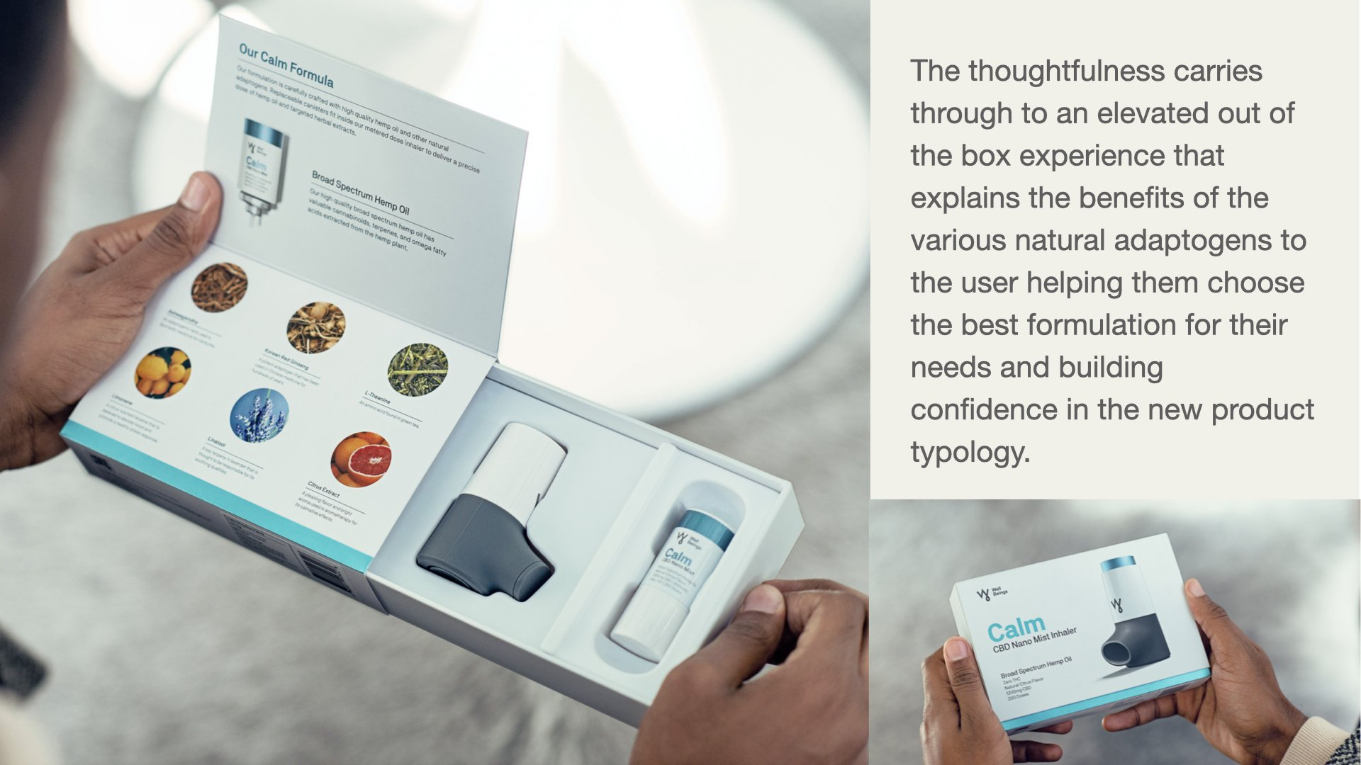 WellBeings : Delivering Nature's Goodness Through Design + Technology
