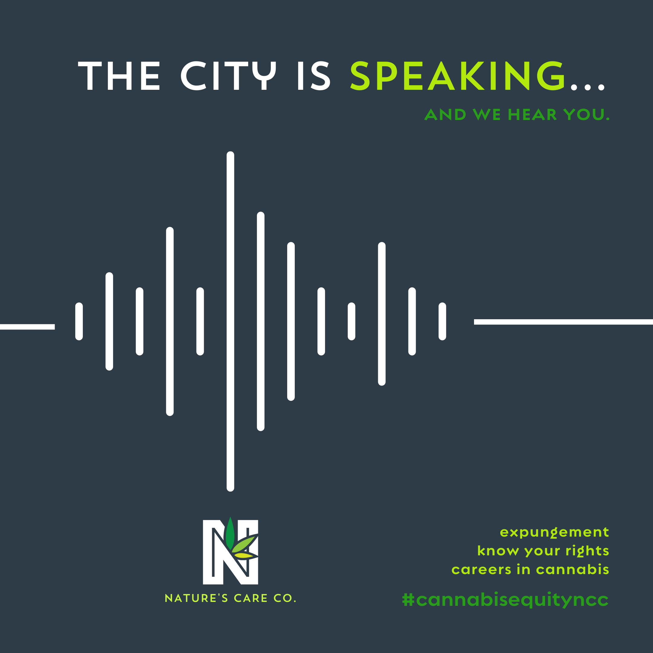 """Nature's Care Company (""""Nature's Care"""") : The City is Speaking. And We Hear You."""
