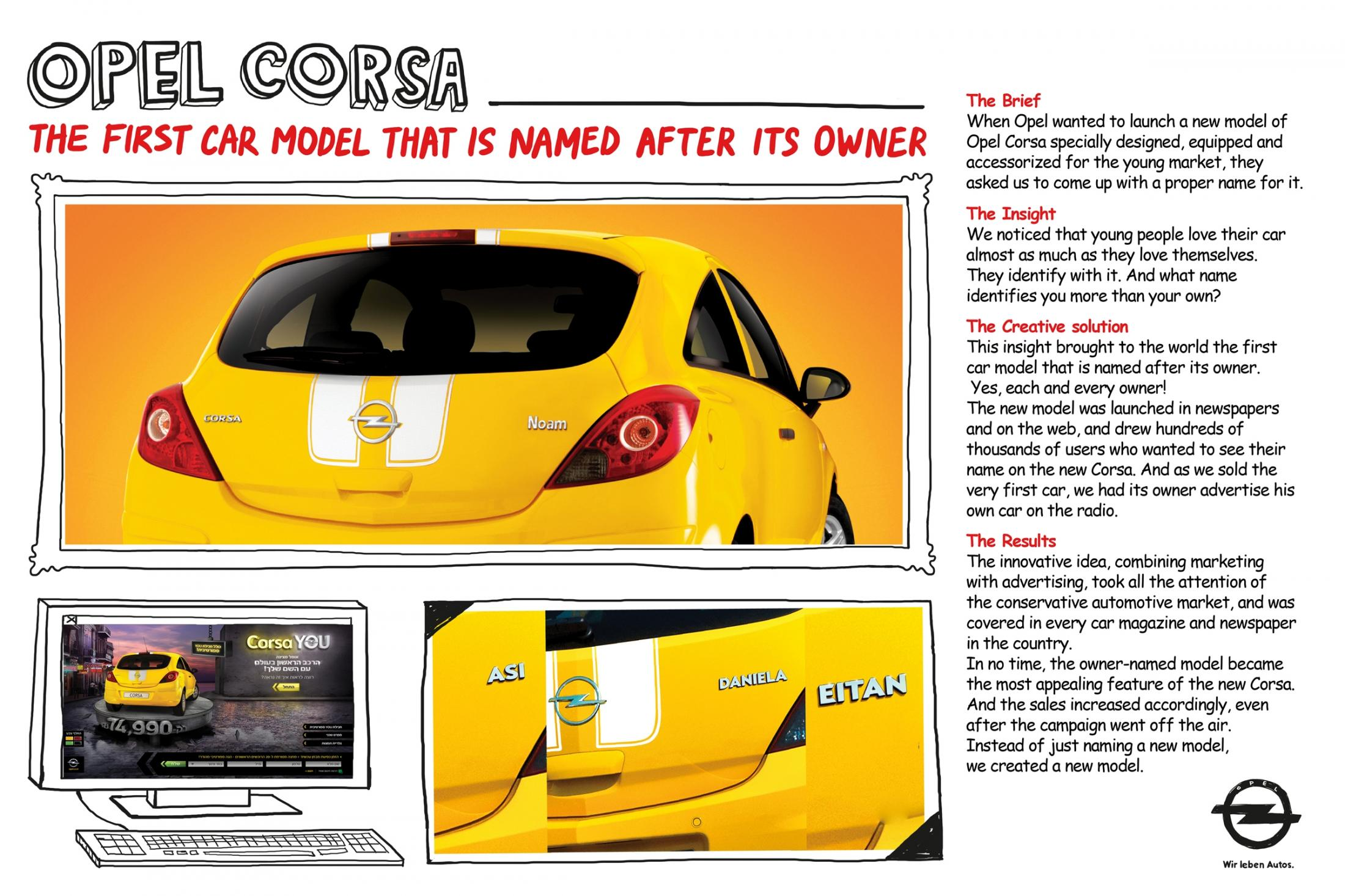 Thumbnail for Opel Corsa __________ The first car model named after its owner