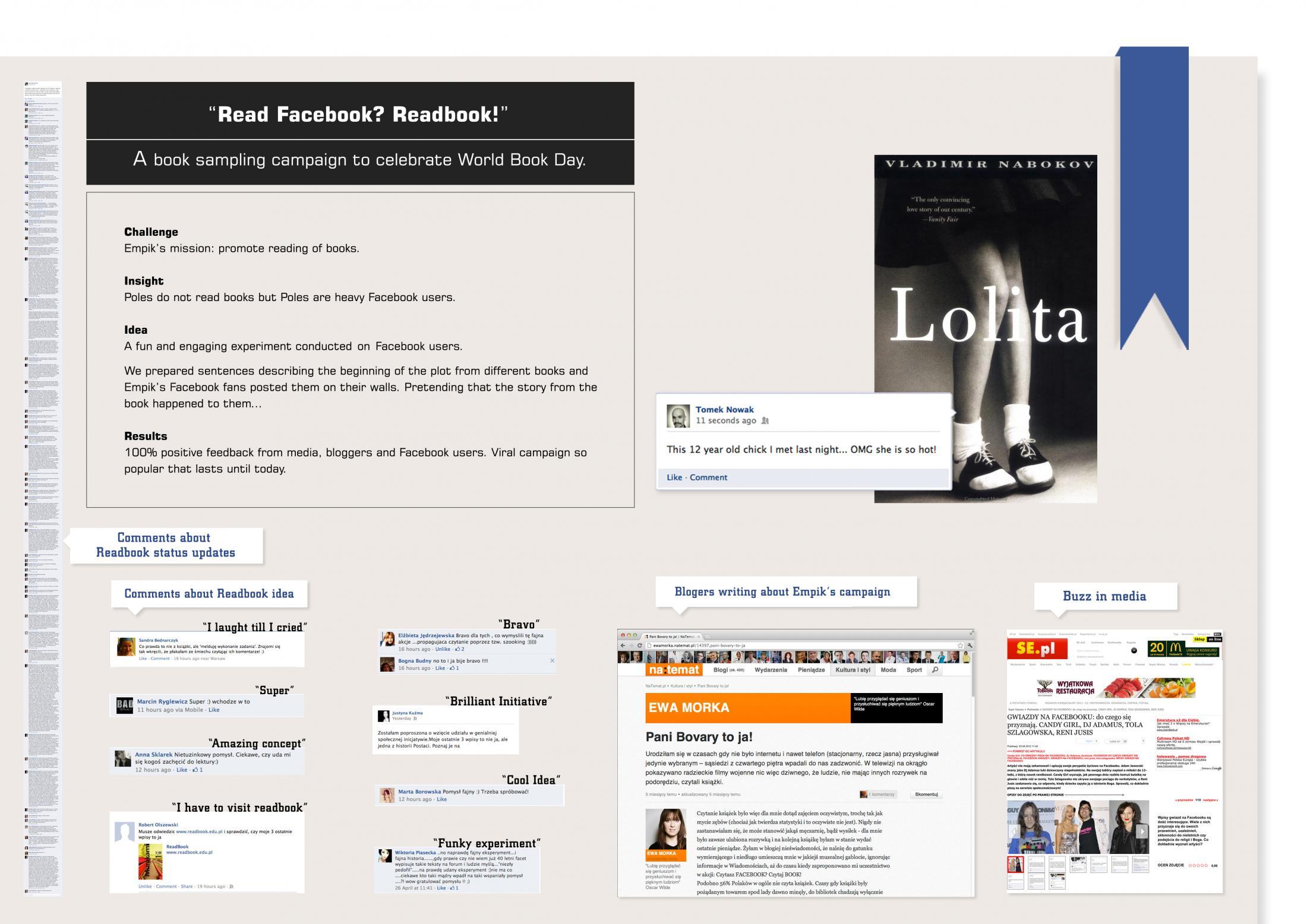 Thumbnail for Read Facebook? Readbook!