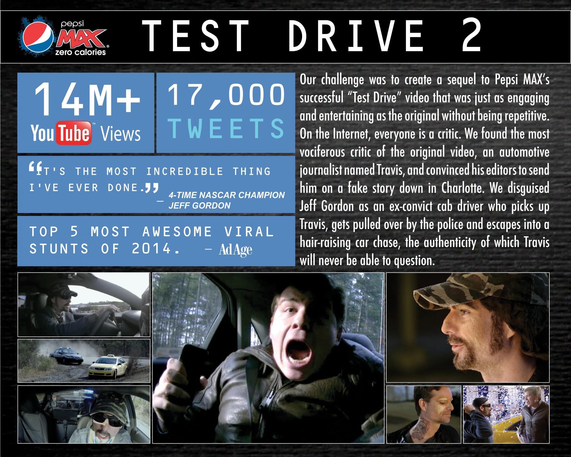 Thumbnail for Pepsi MAX presents 'Test Drive 2'