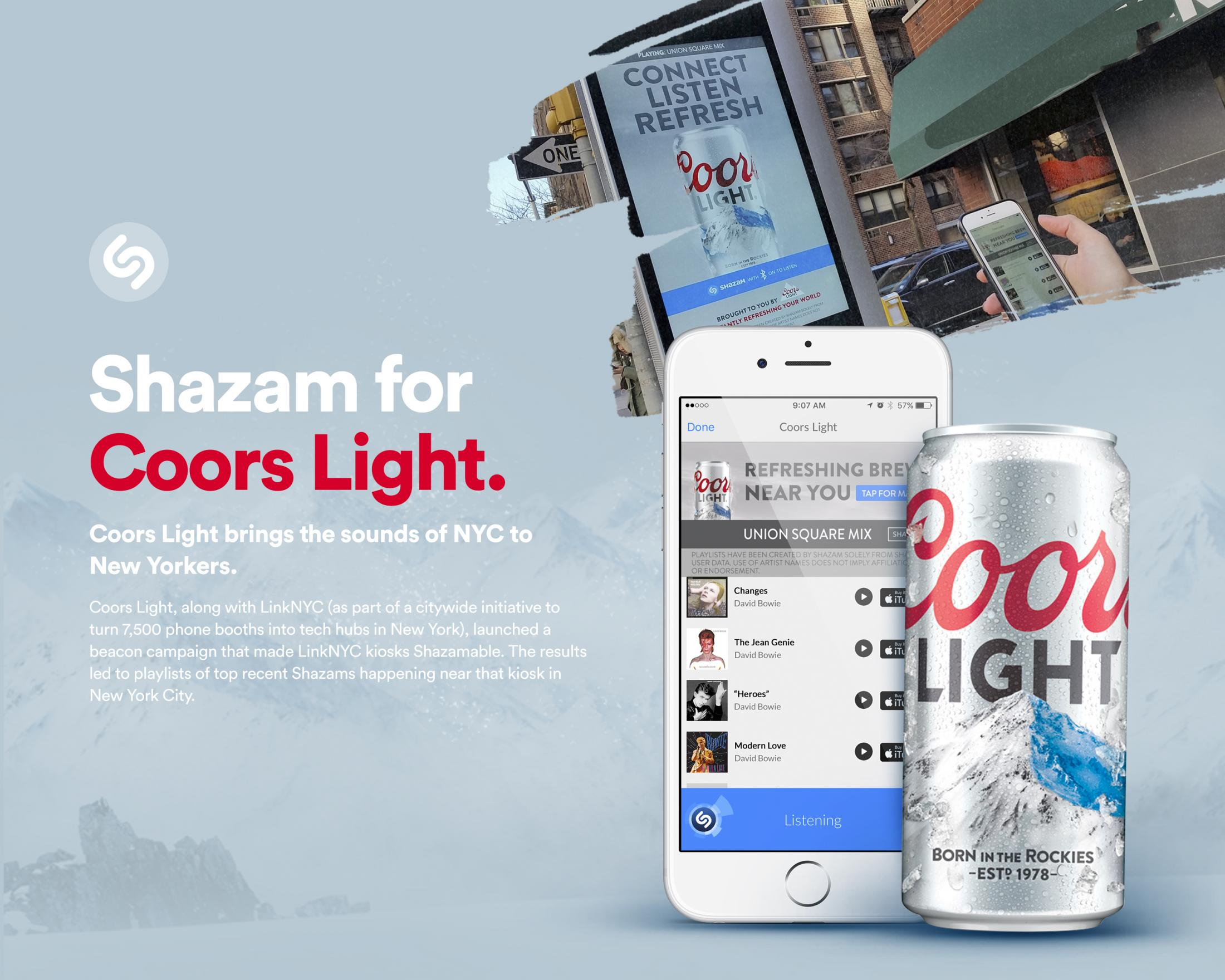 Thumbnail for Shazam & Coors Light - LinkNYC