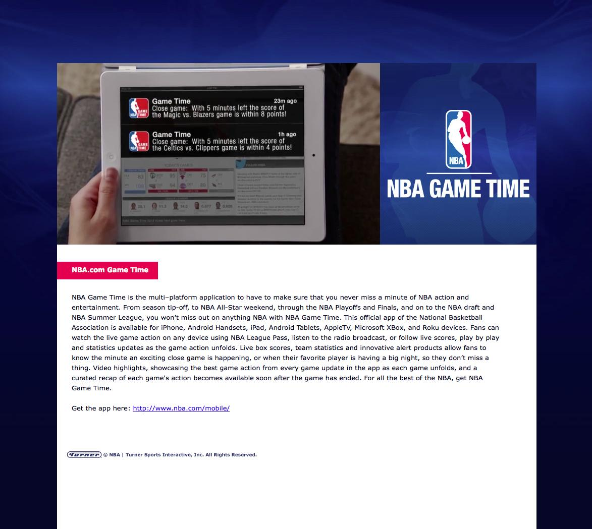 Thumbnail for NBA Game Time