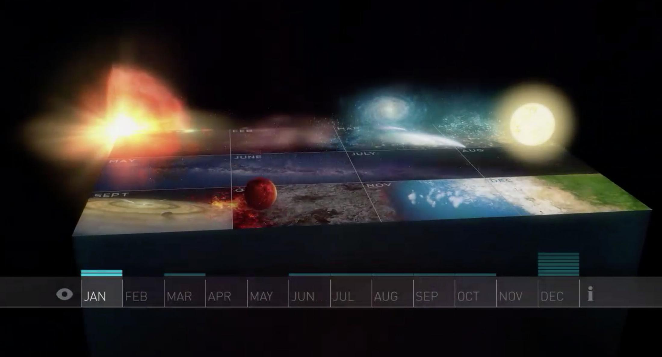 Thumbnail for Cosmic Calendar Interactive Feature - Blu-Ray Interactive Content