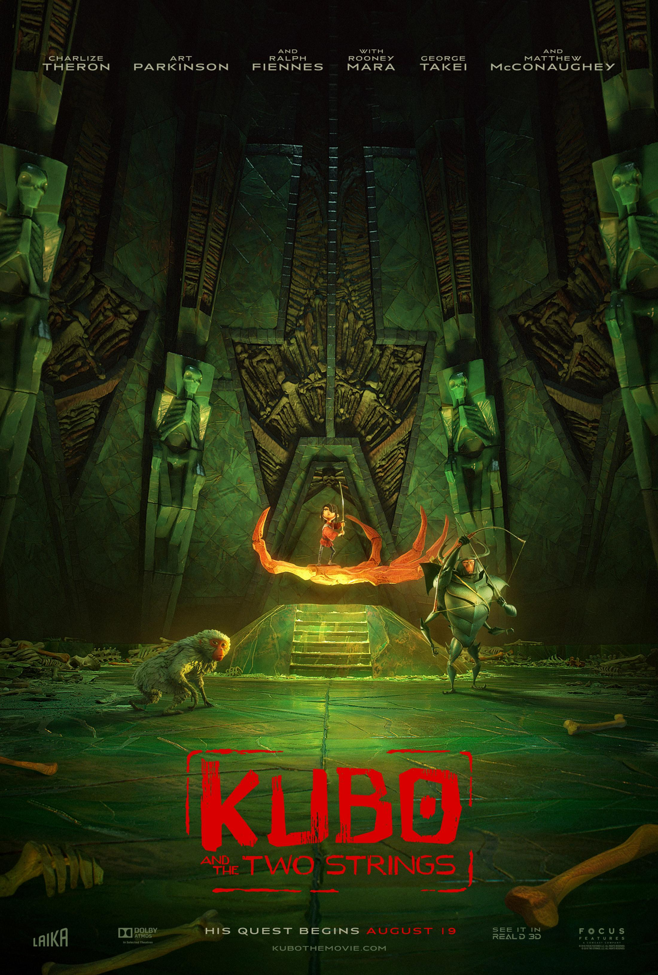 Thumbnail for Kubo and the Two Strings: Hall of Bones Digital One-Sheet