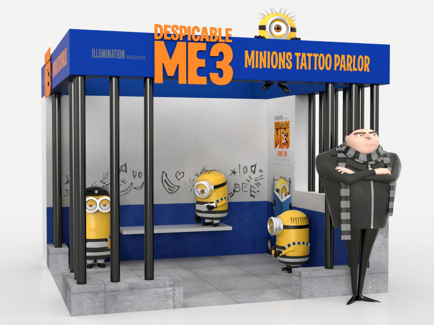 Despicable Me 3 Tattoo Parlor Theatrical: Events/Experiential Thumbnail