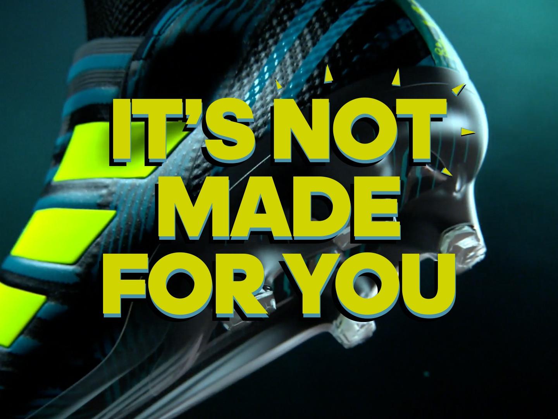adidas Nemeziz - it's not made for you Thumbnail