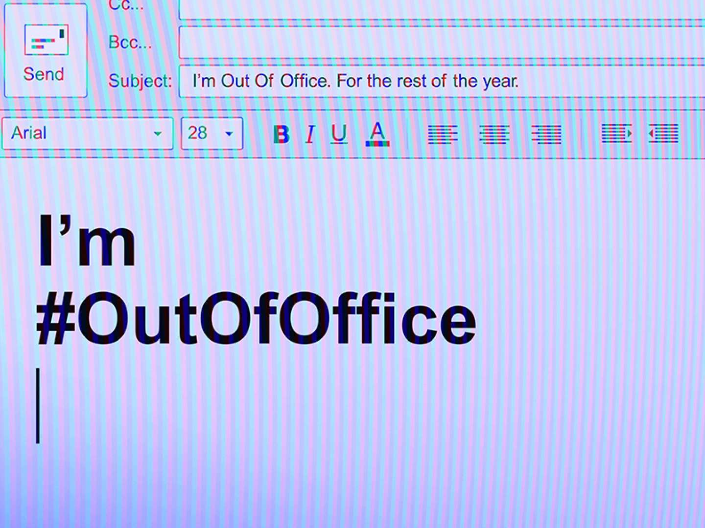 I'm Out Of Office for equal pay Thumbnail