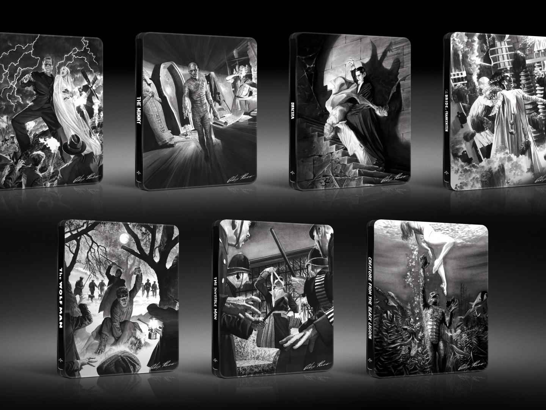Alex Ross Classic Monsters Steelbooks Thumbnail