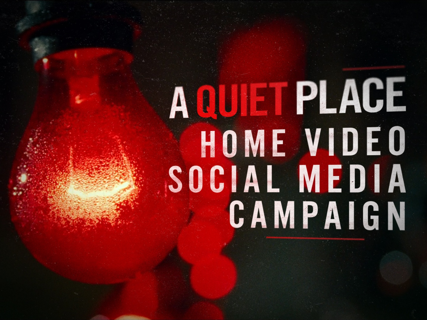 A Quiet Place - Home Video - Social Media Campaign Thumbnail