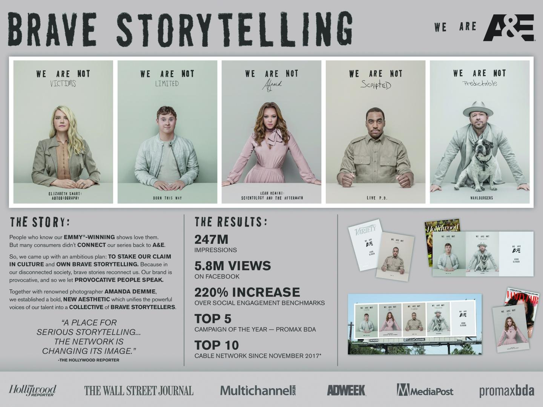 A&E Brand Campaign: Brave Storytellers Thumbnail