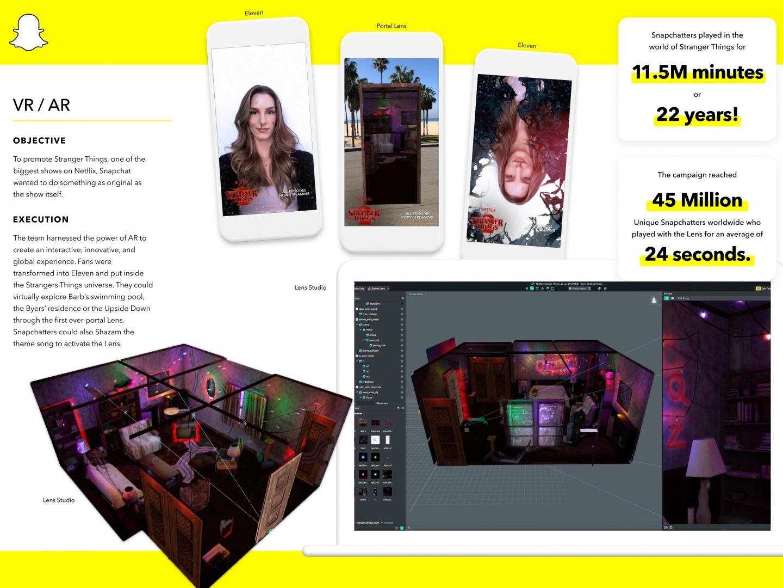 Stranger Things + Snapchat's AR Portal Lens Thumbnail