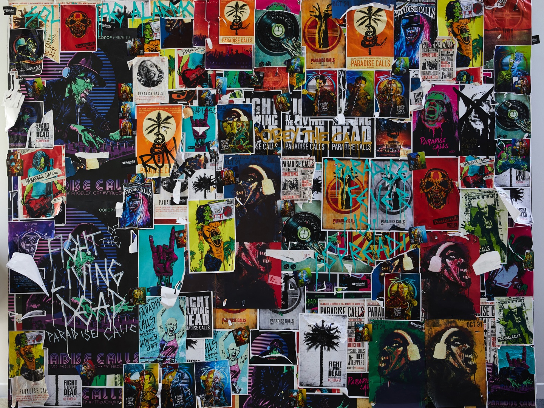 Fight of the Living Dead: Paradise Calls - Graffiti Wall Thumbnail