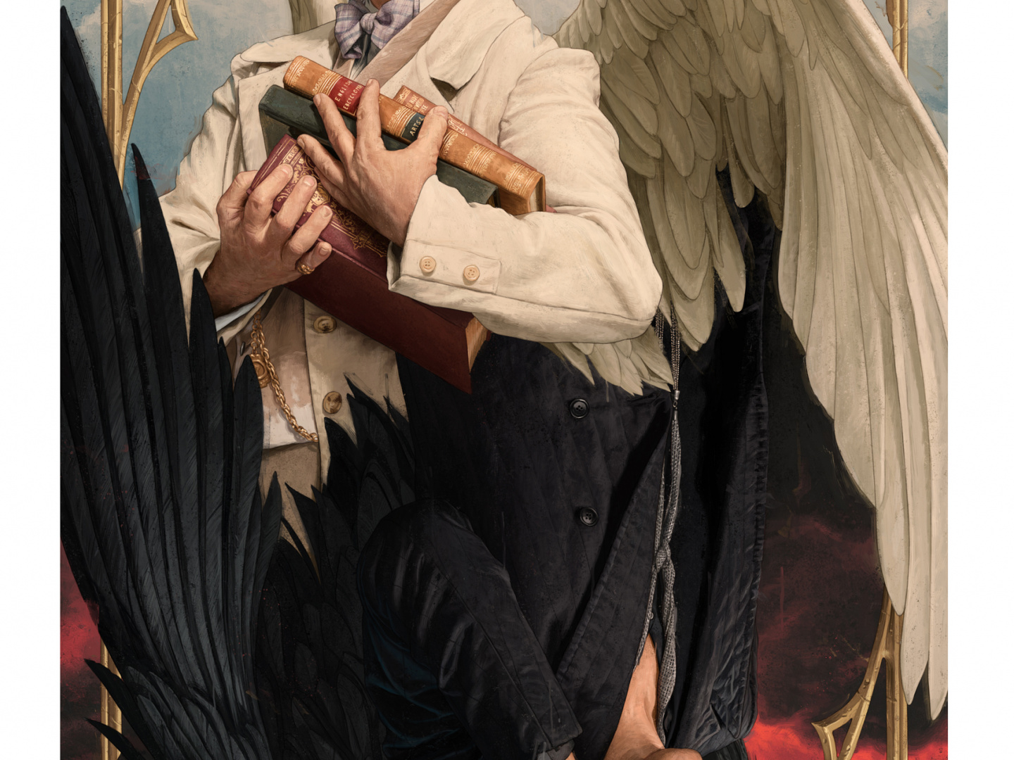 Good Omens NYCC Illustrated Poster Thumbnail
