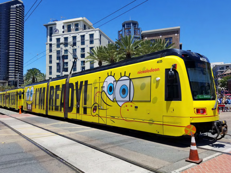 #HappyBirthdaySpongeBob Transit Wrap - Trolley Thumbnail