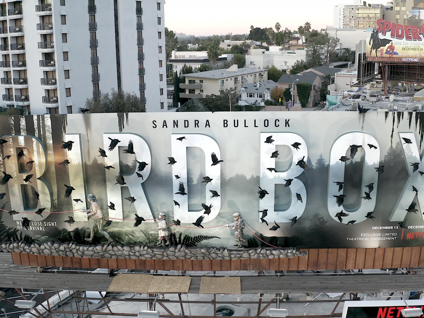 Netflix Bird Box 3D Billboard  Thumbnail