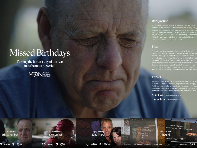 Missed Birthdays - Rigby Fielding Thumbnail