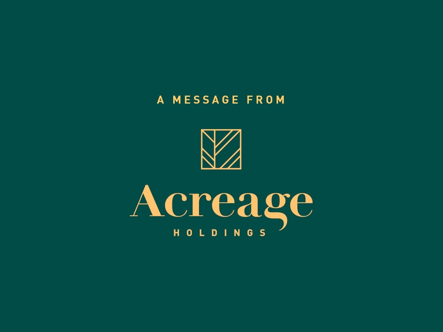 """Acreage Holdings : """"The Time Is Now"""" Super Bowl PSA"""