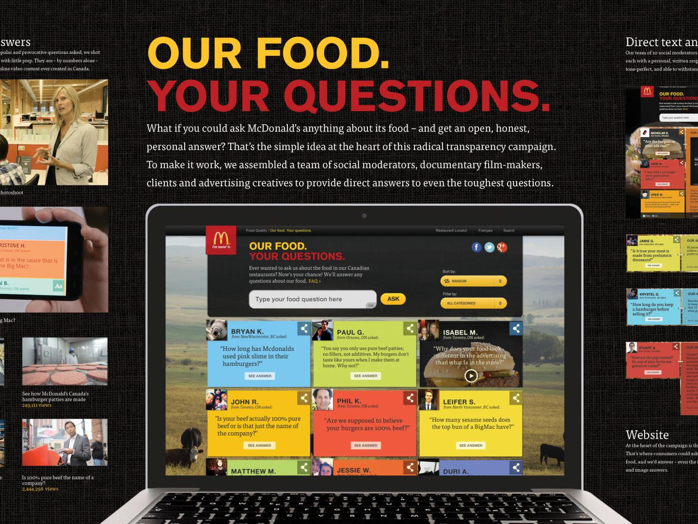 Our Food. Your Questions Thumbnail