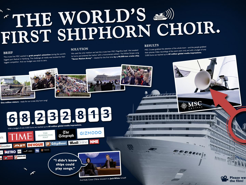 The MSC Magnifica Shiphorn Choir Thumbnail