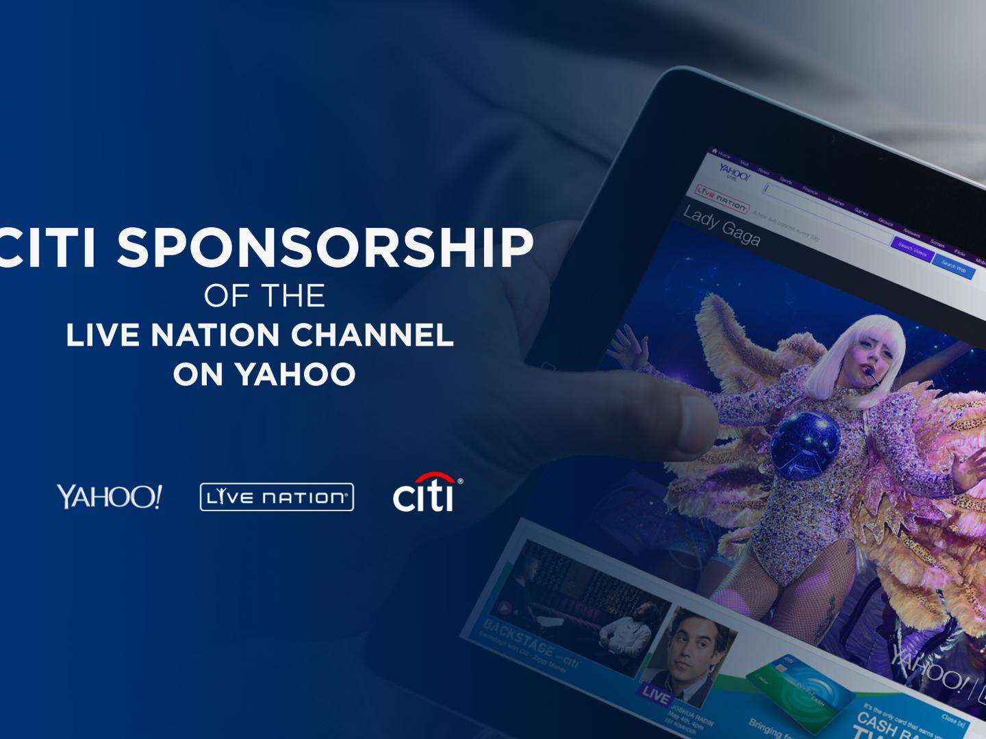 Citi Sponsorship of Live Nation Channel on Yahoo Thumbnail