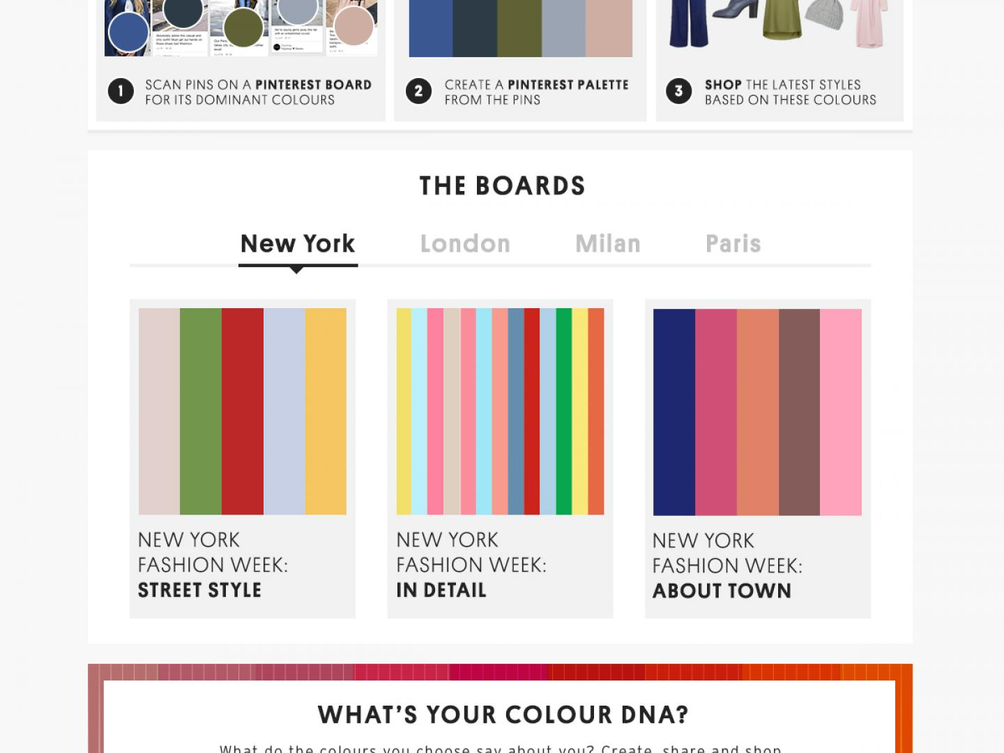 Topshop in Partnership with Pinterest Palettes Thumbnail