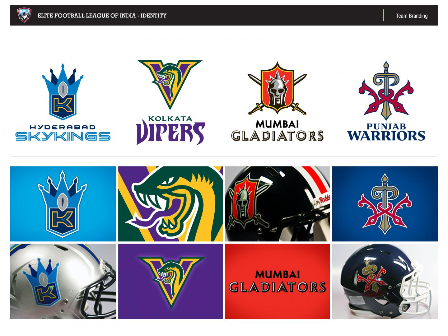 Elite Football League of India Brand Identity Thumbnail