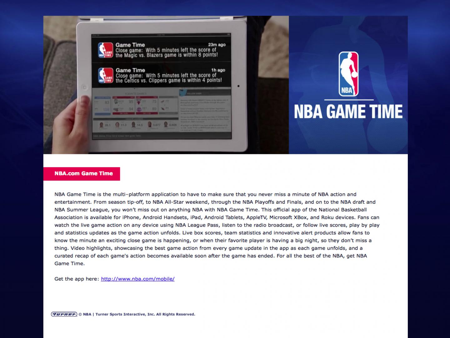 NBA Game Time Thumbnail