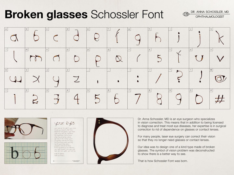Broken Glasses Schossler Font Thumbnail