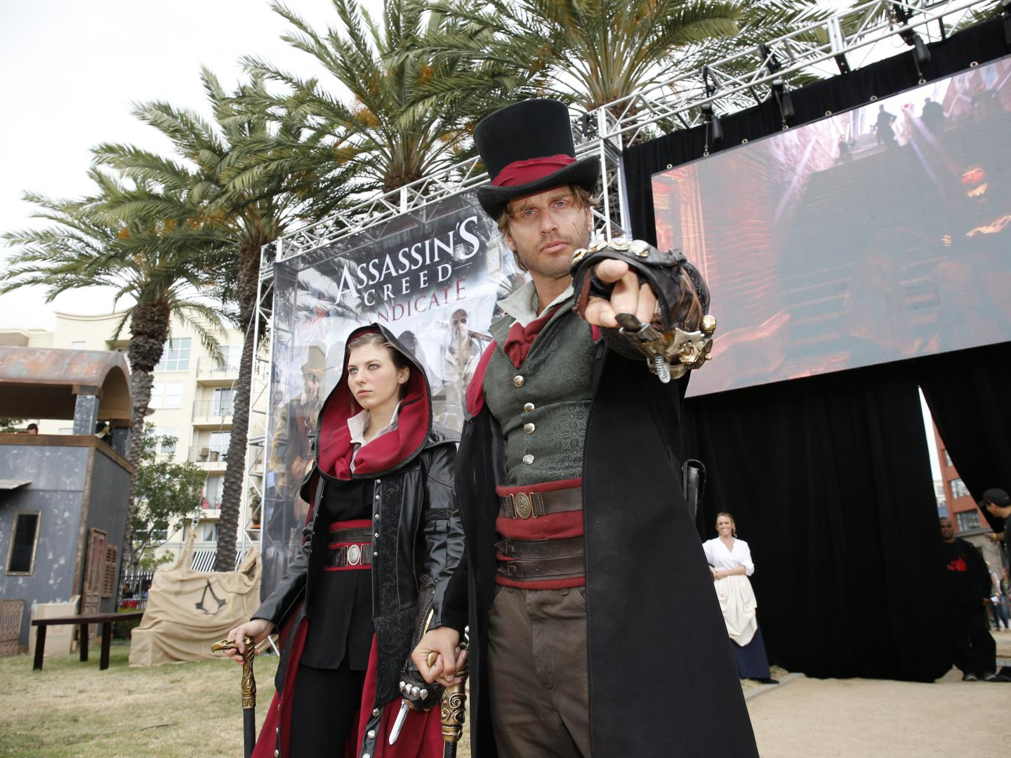 Branded Obstacle Course Inspired by Assassin's Creed Video Game at San Diego Comic Con Thumbnail