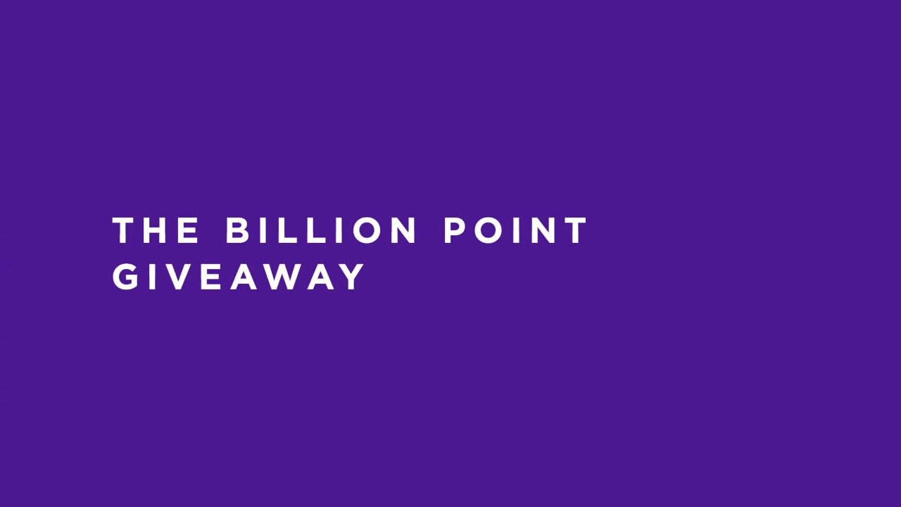 Thumbnail for The Billion Point (that was supposed to be the Million Point) Giveaway