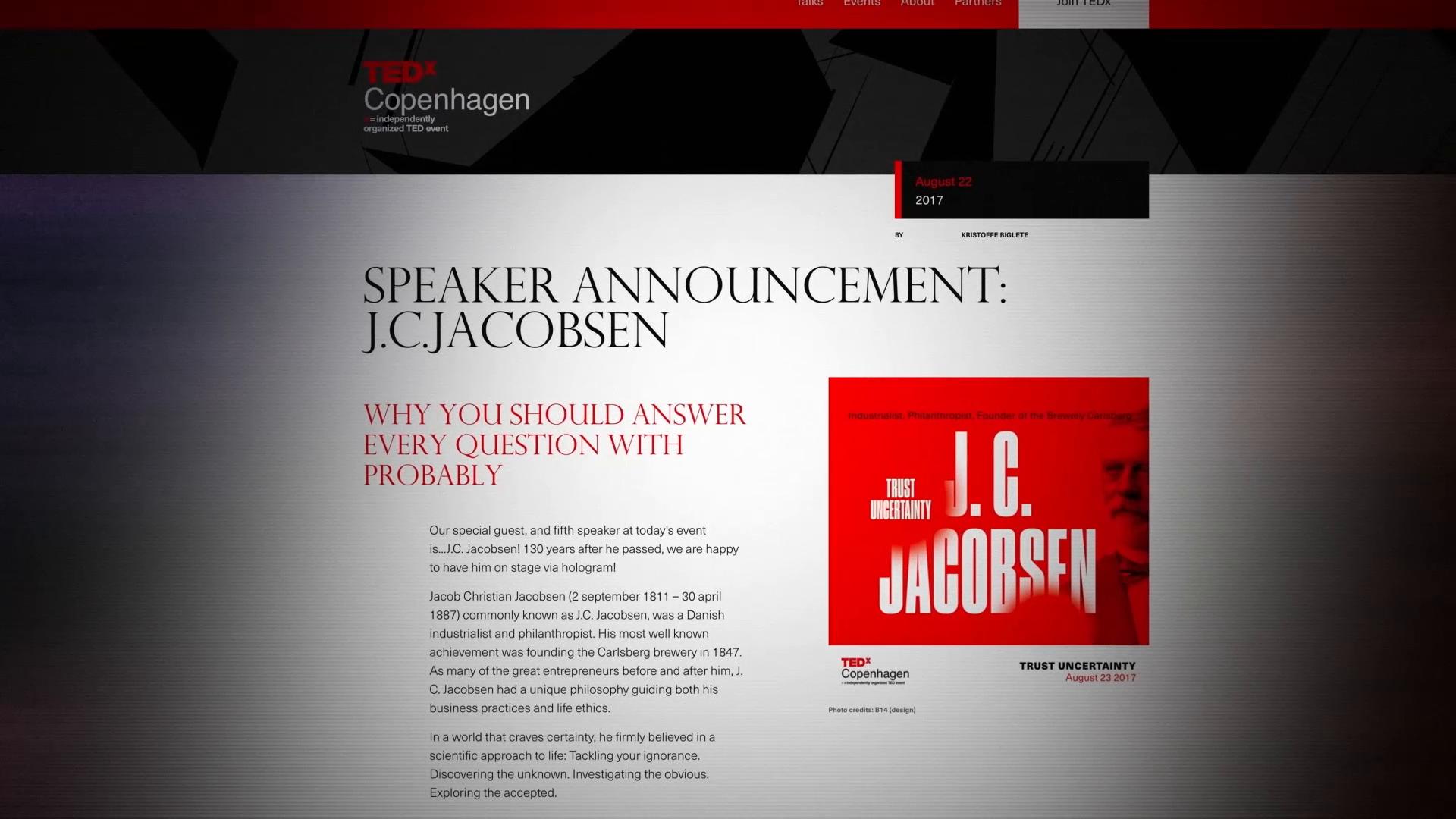 Thumbnail for Carlsberg Probably  TEDx