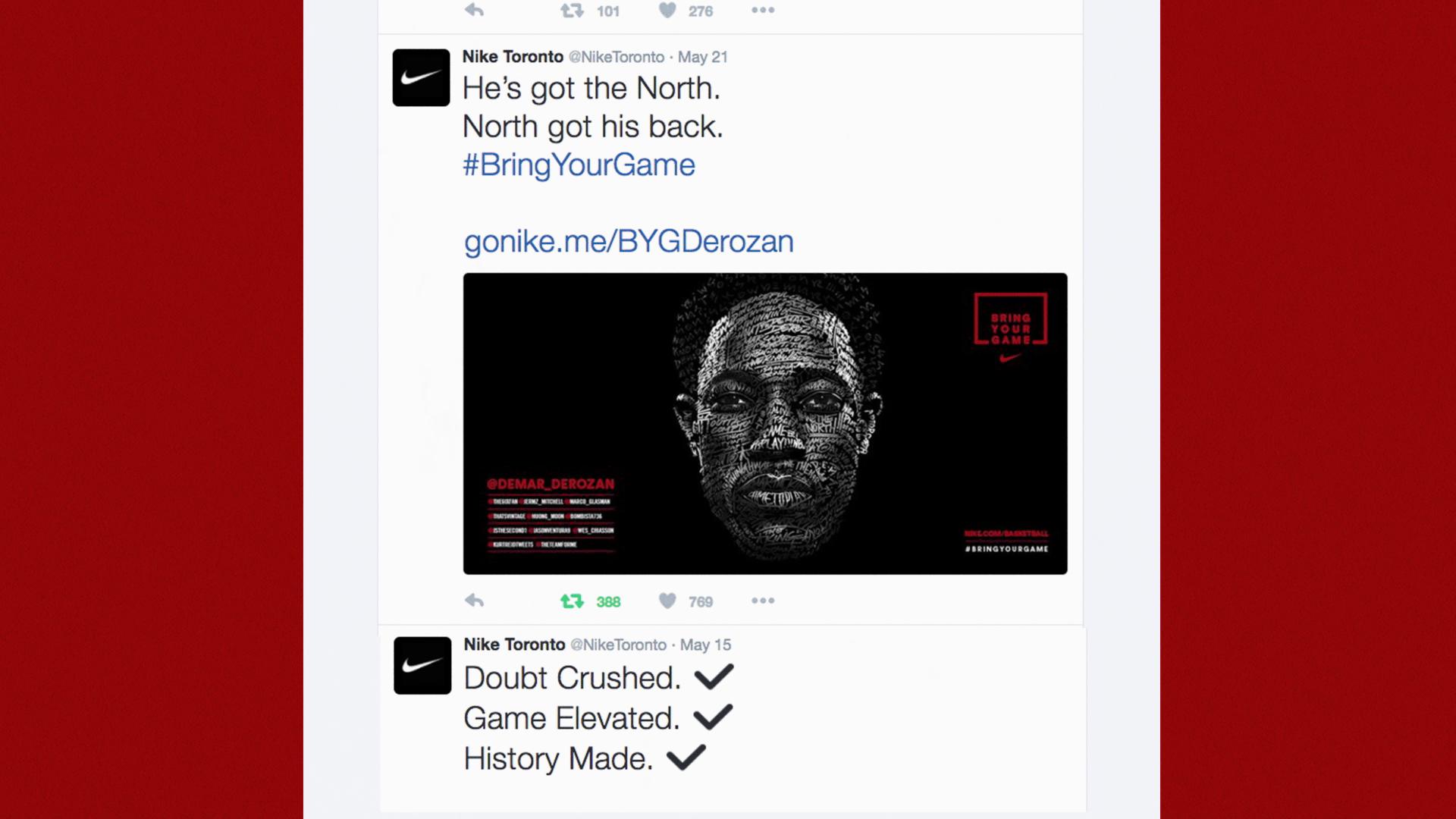 Thumbnail for Nike Face of the Fans - DeMar DeRozan
