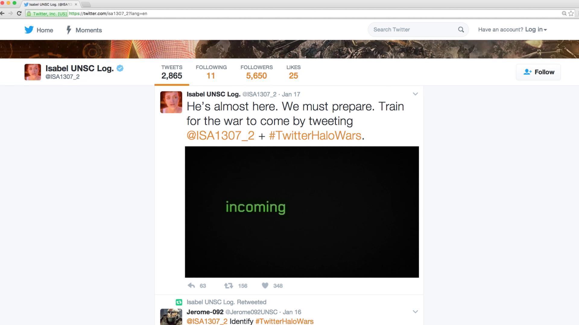 Thumbnail for #TwitterHaloWars